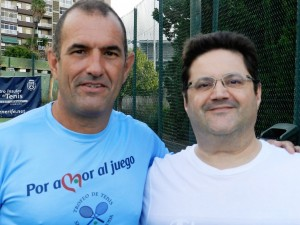 Junto a mi compañero de equipo, Juan José Escuder Gutiérrez de Salamanca (izqda.)