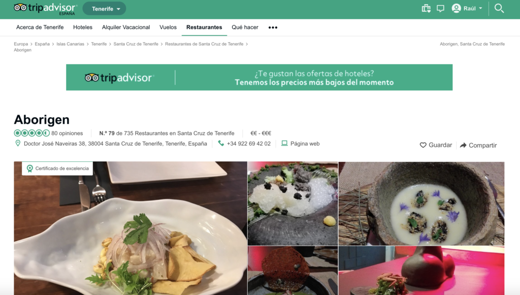 Restaurante Aborigen TripAdvisor