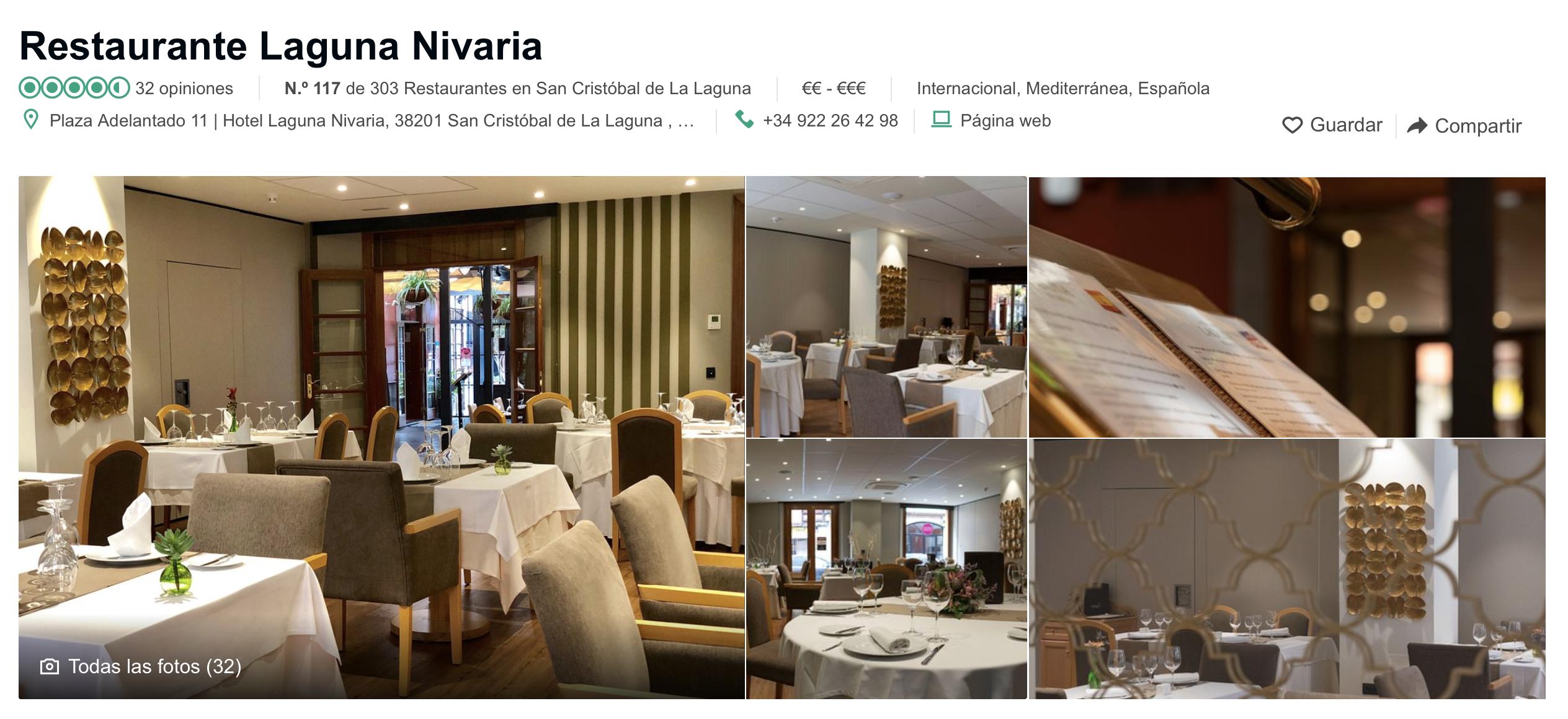 Restaurante Nivaria TripAdvisor